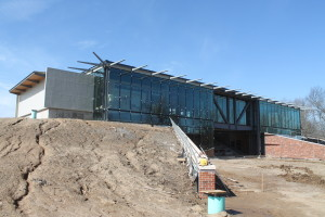 Front view! Glass work nearing completion!