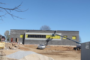 Rear view of the new Medical Office Building